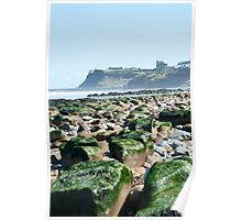 View towards Whitby from the West along the Coast Poster