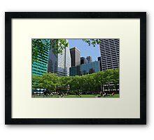 Bryant Park, Manhattan, New York Framed Print