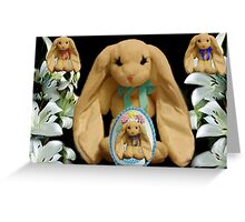 EASTER BUNNY FAMILY MY FAVORITE LITTLE EGG Greeting Card