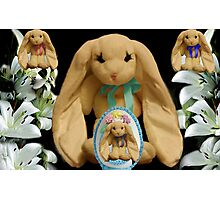 EASTER BUNNY FAMILY MY FAVORITE LITTLE EGG Photographic Print