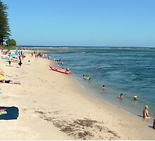 On the Beach, Caloundra by Margaret  Hyde