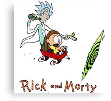 Calvin and Hobbes, Rick and Morty Canvas Print