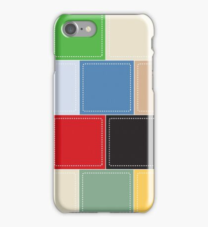 background of colorful square boxes iPhone Case/Skin