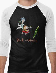 Calvin and Hobbes, Rick and Morty Men's Baseball ¾ T-Shirt