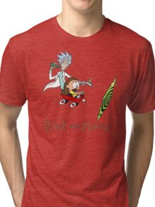 Calvin and Hobbes, Rick and Morty Tri-blend T-Shirt