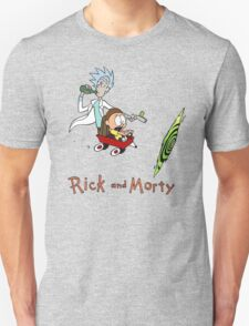 Calvin and Hobbes, Rick and Morty T-Shirt