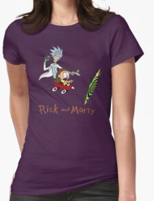 Calvin and Hobbes, Rick and Morty Womens Fitted T-Shirt