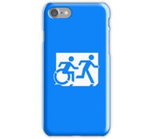 Emergency Exit Sign, with the Accessible Means of Egress Icon and Running Man, part of the Accessible Exit Sign Project iPhone Case/Skin