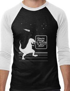 Climate Denialsaurs Men's Baseball ¾ T-Shirt