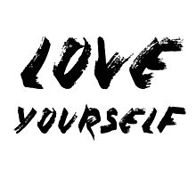 Love Yourself - Justin Bieber Photographic Print