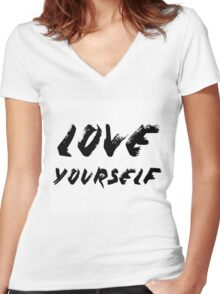 Love Yourself - Justin Bieber Women's Fitted V-Neck T-Shirt