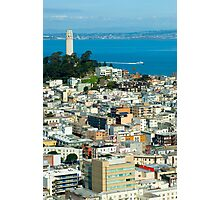 Coit Tower and downtown Photographic Print