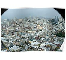 coit tower view Poster