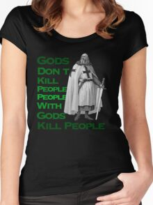 Gods Don't Kill People Women's Fitted Scoop T-Shirt