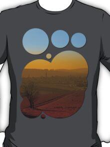 Haze, sunset and city skyline | landscape photography T-Shirt