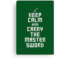Keep Calm - Master Sword  Canvas Print