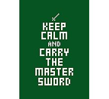 Keep Calm - Master Sword  Photographic Print
