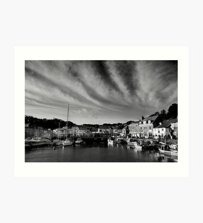 Padstow Skies in Black and White Art Print