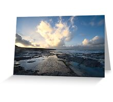 Heart of the Storm - Newtrain Bay - Cornwall Greeting Card