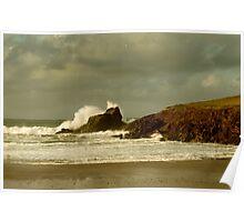 Surf Splash - Trevone Bay - Cornwall Poster