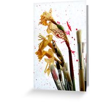 An Artist's Garden - Paints and Flowers Photograph Greeting Card