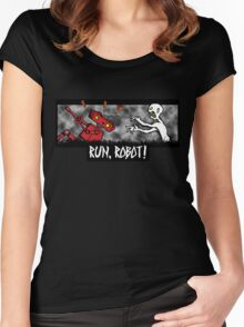 Run, Robot! Women's Fitted Scoop T-Shirt