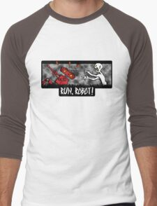Run, Robot! Men's Baseball ¾ T-Shirt