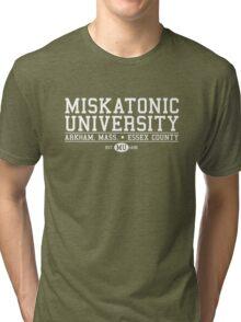 Miskatonic University - White Tri-blend T-Shirt