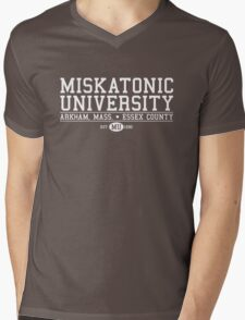 Miskatonic University - White Mens V-Neck T-Shirt
