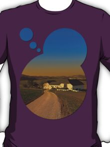 Country road, scenery and sunset | landscape photography T-Shirt