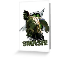 Hulk SMASH! Greeting Card