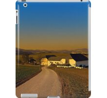 Country road, scenery and sunset | landscape photography iPad Case/Skin