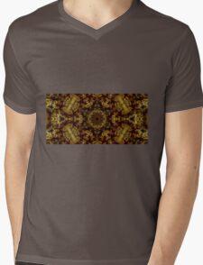 Golden Light and Shadow Mens V-Neck T-Shirt