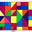 SQUARES AND TRIANGLES ARTWORK by RainbowArt