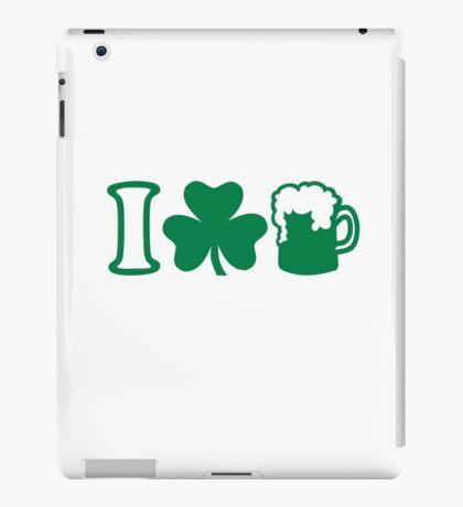 I love green beer iPad Case/Skin