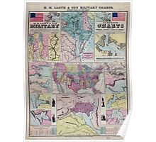 Civil War Maps 0477 H H Lloyd Co's campaign military charts showing the principal strategic places of interest Poster