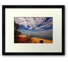 Red Cliff Bay, Monkey Mia Framed Print