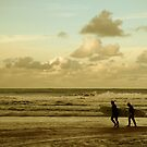 Surfers - Harlyn Bay, Cornwall by Samantha Higgs