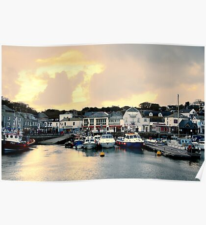 Sunset in Padstow Poster