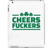 Cheers fuckers irish shamrock iPad Case/Skin