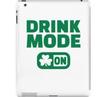 Drink mode on shamrock iPad Case/Skin