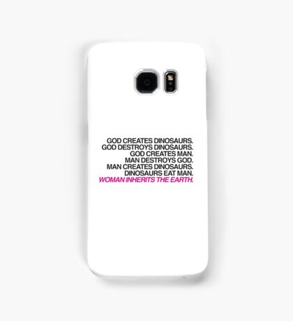 Jurassic Park — Woman Inherits the Earth Samsung Galaxy Case/Skin