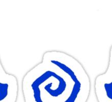 True Detective - Carcosa Antlers - Blue Sticker