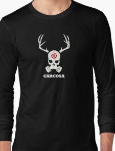 True Detective - Carcosa Gas Mask - White Long Sleeve T-Shirt