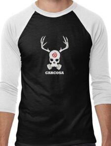 True Detective - Carcosa Gas Mask - White Men's Baseball ¾ T-Shirt