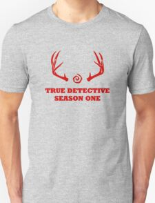 True Detective - Season One Antlers - Red T-Shirt