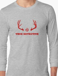 True Detective - Antlers - Red Long Sleeve T-Shirt