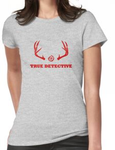 True Detective - Antlers - Red Womens Fitted T-Shirt