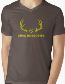 True Detective - Antlers - Yellow Mens V-Neck T-Shirt
