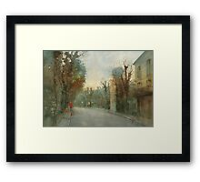 A little optimism in autumn evening Framed Print